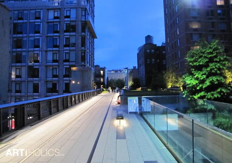 New York High Line Night Art Walk Artiholics